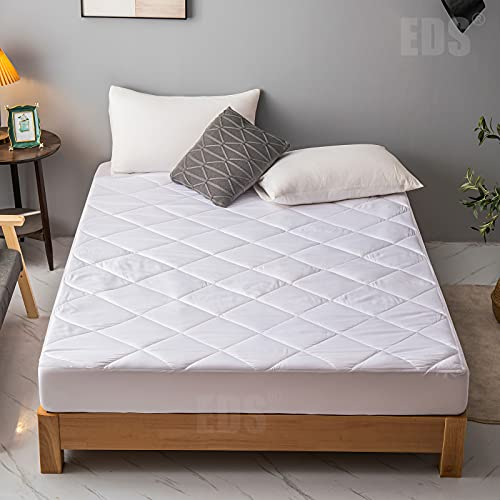 EDS Anti Allergy Deep Mattress Protector Quilted Mattress Cover Microfiber...