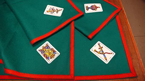 TAPETE Cartas Fieltro 100% Lana con ASES BARAJA ESPAÑOLA (70 X 70 CM SIN Cartas)