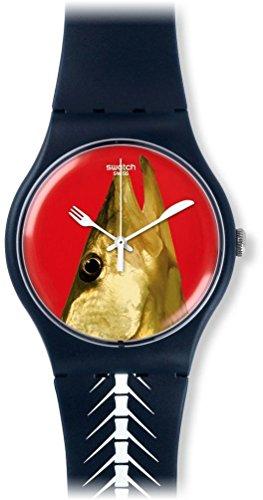 Swatch Reloj Analógico para Unisex de Cuarzo con Correa en Silicona SUON111