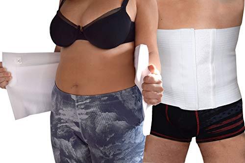 Fascia a strappo Post operatoria Chiusura a Velcro Unisex Pancera contenitiva Modellante Traspirante Supporto addome (L)