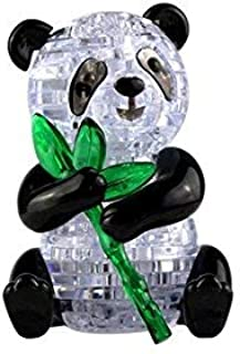 Little Bado 3D Crystal Puzzle Cute Panda Model DIY 1 Set Gadget Blocks Building Stem Toy Gift for 8 9 10 11 12 Years Old Kids Boys Girls 3D Crystal Puzzles Panda for Kids Ages 8-10 Year olds