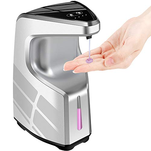 Hand Sanitizer Dispenser, Touchless Soap Dispenser, 450ml Automatic Soap Dispenser, Christmas Liquid Soap Dispenser for Kitchen Bathroom Office, w/Adjustable Soap Volume , Wall Mount/ Countertop