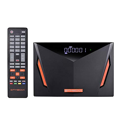 Docooler GTMEDIA V8 UHD 4K Decodificador,Satélite Receptor de TV DVB-S / S2 / S2X + T / T2 / Cable, Soporte ATSC-C/ISDBT Ultra/H.265/ Main 10/ PVR Timeshift/Lector de Tarjetas Smart Card/SCART/Wi-Fi