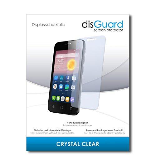 disGuard® Bildschirmschutzfolie [Crystal Clear] kompatibel mit Alcatel Pixi First [4 Stück] Kristallklar, Transparent, Unsichtbar, Extrem Kratzfest, Anti-Fingerabdruck - Panzerglas Folie, Schutzfolie