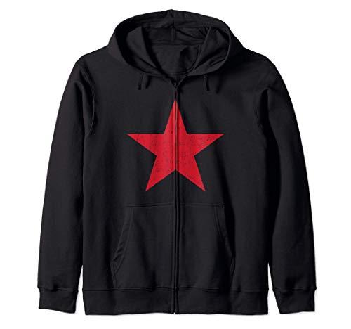 Regalo comunista estrella comunista roja Sudadera con Capucha