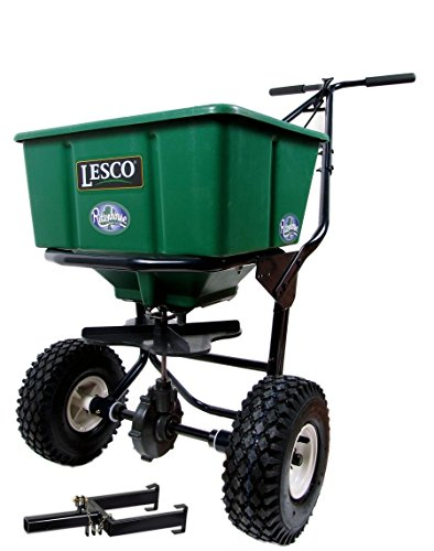 Best Prices! Lesco 50 Lb. Push Spreader 092807 with Rittenhouse Spreader Caddy (Bundle, 2 Items)
