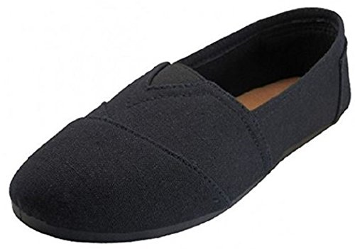 Womens Canvas Slip On Shoes Flats (…
