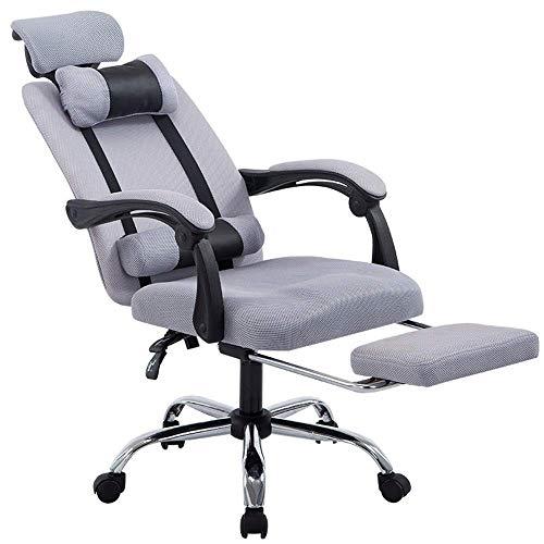Presidente CAIJINJIN E-Sports Presidente Adecuado for sillas de ordenador más PC Gaming Silla con respaldo alto Silla de oficina Inicio de videojuegos for el juego de Trabajo (Color: Gris, Tamaño: 60X