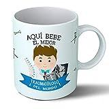 Planetacase Taza Desayuno Aquí Bebe el Mejor traumatologo del Mundo Regalo Original Medicina traumatologia Ceramica 330 mL