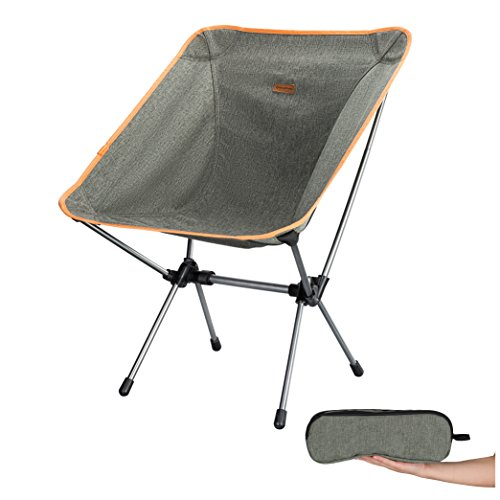 KingCamp Moon Saucer Ultralight Camping Folding Chair Protable Backpacking Chair with Cup Holder and...