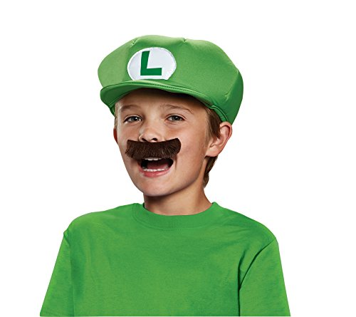 Super Mario Bros-Super Mario Accessories Kids Luigi Déguisement, DISKX73756, Taille Unique