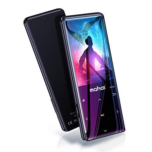 MYMAHDI MP3-Player mit Bluetooth 4.2, Touch-Tasten mit 2,4-Zoll-Bildschirm, 16 GB tragbarer, verlustfreier digitaler Audio-Player mit UKW-Radio, Sprachaufzeichnung, Unterstützung bis zu 128 GB