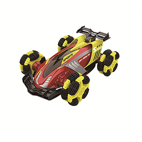 KGUANG Light and Music 4 × 4 Off-Road RC Car 4WD Stunt Spray Climbing 2.4G Remote Control Buggy USB All-Round Eléctrico Vehículo de Juguete para niños Niño Cumpleaños