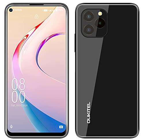 Android 11 Telefono Cellular OUKITEL C21 PRO, Design Completare In Vetro,4GB+64GB,Fotocamera Tripla 21 MP, Smartphone Android 11 Dual SIM,Display HD+ 6,39'',Impronte Digitali Face ID GPS WIFI Nero