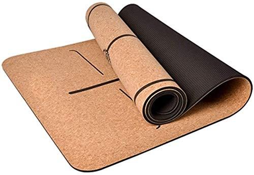 GDFEH Esterilla Yoga Pilates Mat Home Gym Gym Equipment Professional Impermeable Fitness Mat para mujeres, Hombres Acolchado de alta densidad de alta densidad Para evitar las rodillas doloridas, perfe