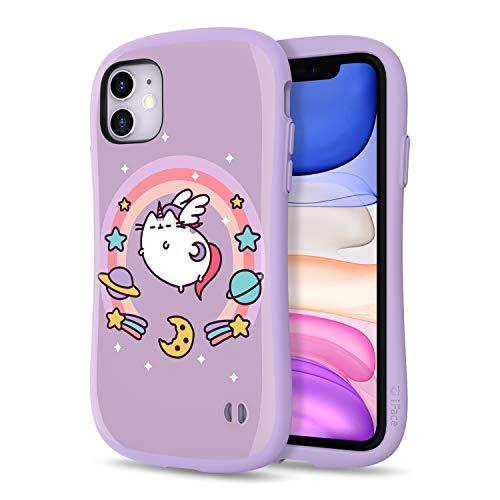 iFace x Pusheen First Class Designed for iPhone 11 – Cute Shockproof Dual Layer [Hard Shell + Bumper] Case [Drop Tested] - Pusheenicorn (Purple)