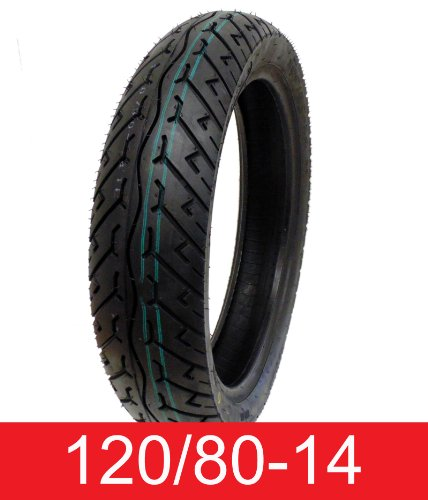 Best Price MMG Tire 120/80-14 Tubeless Front/Rear Motorcycle Scooter Moped (P108)