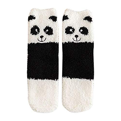 Huacat Damen 5 Paar Socken Winter Warm Cartoon Tier Drucken Korallenvlies Baumwollsocken Verdicken Lässige Stricksocken Atmungsaktiv Bequem Socken Bodensocken Wollesocken