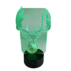 Lightahead Amazing 3D Optical Illusion Touch Night Light LED Desk Lamp Art Piece with 7 changing Colors, USB Powered for Decoration & Gifts