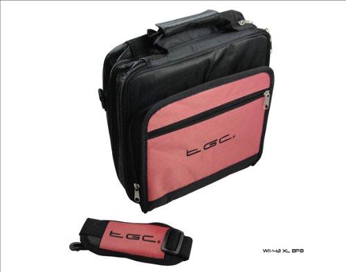 Nieuwe Baby Roze en Zwart Twin compartiment Deluxe Draagtas voor T-Mobile G-Slate Tablet