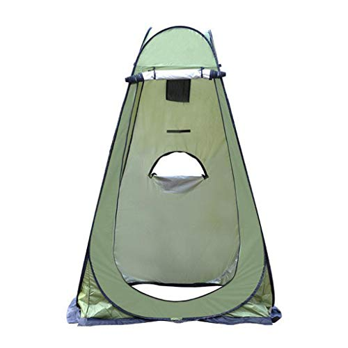 TTlove Camping Toilet Tent Pop Up Shower Privacy Tent for Outdoor Changing Dressing Fishing Bathing Storage Room Tents, Portable with Carrying Bag(B#Green,120X120X190CM)