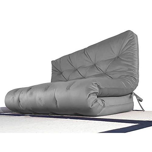 Colchão futon casal dobrável sofa cama cinza