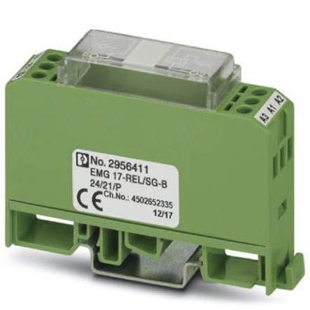 Phoenix Contact EMG 17-REL/SG-B 24/21/P Schnittstellen-Relaismodul, 24V dc 1-poliger Wechsler / 1 A x 1 Stück