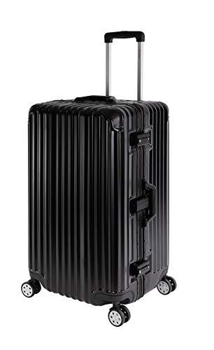 Travelhouse Hard Shell Suitcase Aluminium Frame London T1169 Travel Trolley, Various Sizes and Colours, Black (Black) - LONDON T1169 SPORT TRUNK