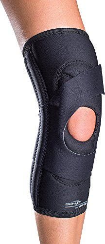 DonJoy Lateral J Patella Knee Support Brace Without Hinge: Drytex, Left Leg, Small