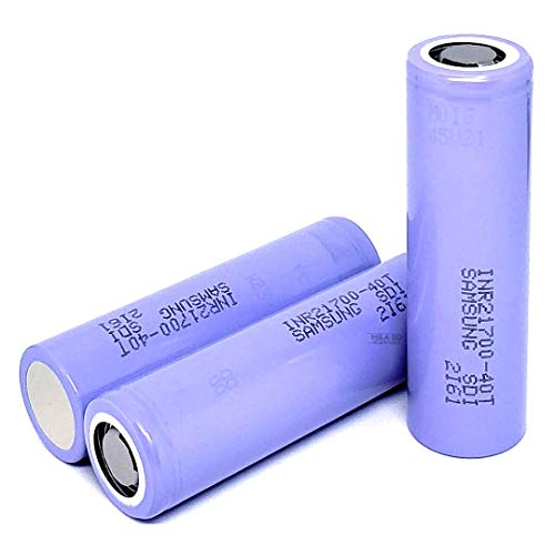 2 Pack of 4000mAh, Purple-Series, 30A, Replacement for Rechargeable 21700-Flat-Top-Battery, for LED Flashlight, Tools, etc