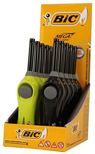BIC Original Mega Lighter/Encendedor/encendedores con Soportes para Colgar en Pantalla, Longitud Total Aprox. 20cm