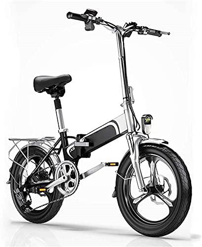 CASTOR Bicicleta electrica Bicicleta eléctrica, Bicicleta de Adultos de Cola Suave Plegable, batería de Litio 36V400W / 10AH, teléfono móvil USB/Luces Delanteras y traseras, Bicicleta de la Ciudad