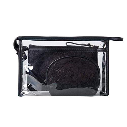 Grande capacité Durable Haute Qualité Exquis Trousse de toilette transparente Transprent Cosmetic Bag Pique-nique Maquillage Titulaire Sac Haute Qualité PVC Poche À Cosmétiques Sac Durable Zipper Maqu