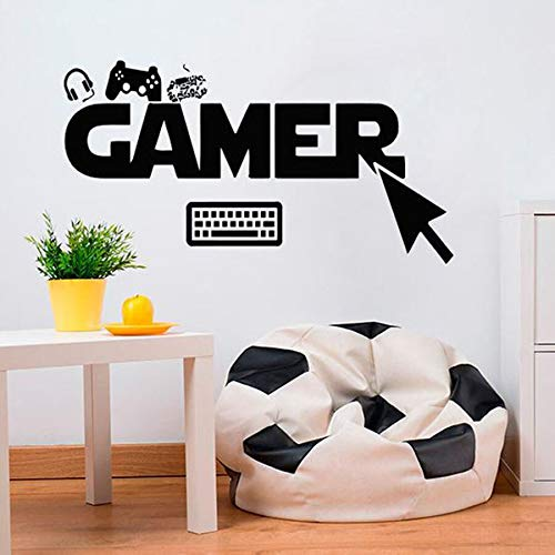 yaonuli Gamer Muurstickers Kies Klik Game Toetsenbord Vinyl Muursticker Home Decor
