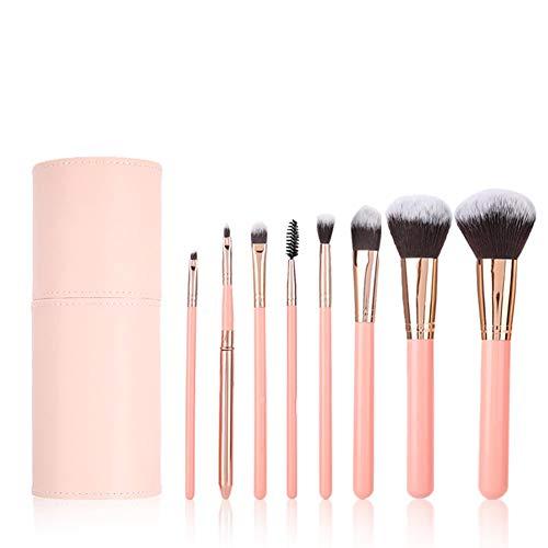 Jadeshay Pinceau cosmétique Kit de Pinceau de Maquillage Portable Fondation Blush Fard à paupières Outil cosmétique 8 pièces/Ensemble