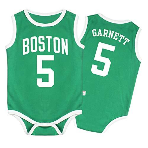 Camiseta de bebé Warriors Lakers James Romper sin Mangas Chaleco de una Pieza,Green,66CM