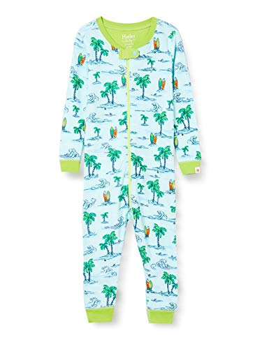Hatley Organic Cotton Sleepsuit Pyjama, Bleu (Hawaiian Tropics 400), 2 Mois Bébé Fille