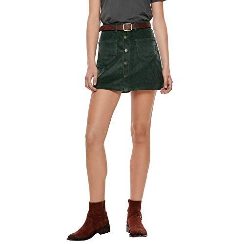 ONLY Damen Onlamazing Hw Corduroy Skirt PNT Noos Rock, Grün (Green Gables Green Gables), 38 (Herstellergröße: M)