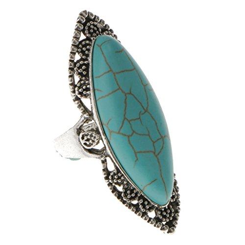 Genérico Donna Ovale anello inciso Ethnic Bohemian Vintage