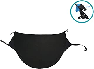 Universal Baby Stroller Sun Shade Cover Adjustable Anti-UV Rayshade Sunscreen Breathable Awning (Black) -Umbrella Canopy Extender Sunshade
