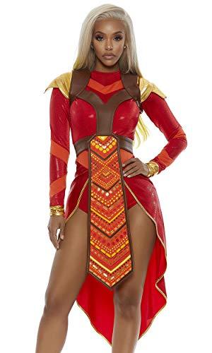 Forplay Damen Wakanda Forever Epic Warrior Costume Kostüme für Erwachsene, rot, Medium/Large