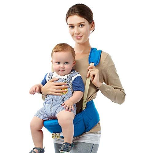Ergonomische Babytrage Sommer Atmungsaktive Hocker EIN Schultergurt Baby Carrier Keine Säuglingseinsätze Einfache Stillen Muss Sich An Baby Wachstum Anpassen,Blue