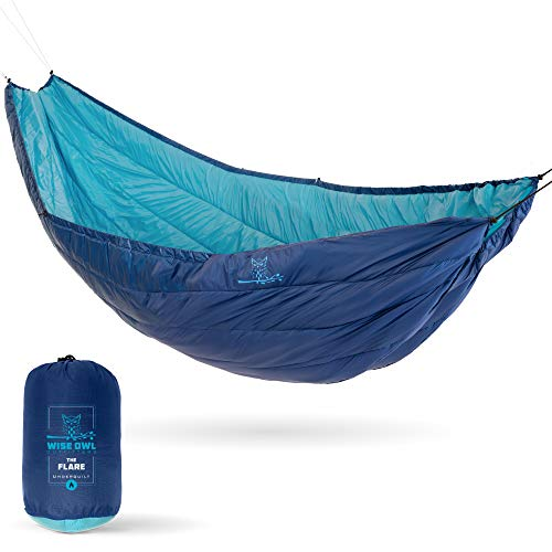 Wise Owl Outfitters Hammock Underquilt for Single amp Double Camping Hammocks Warm 4 Season  Winter Quilt