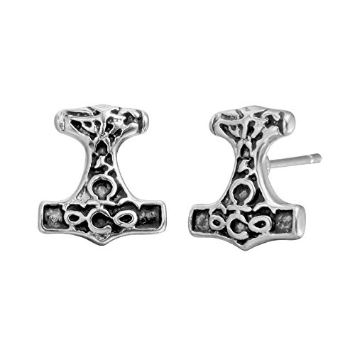 Joji Boutique: Antiqued Silver Viking/Norse Hammer Post Earrings