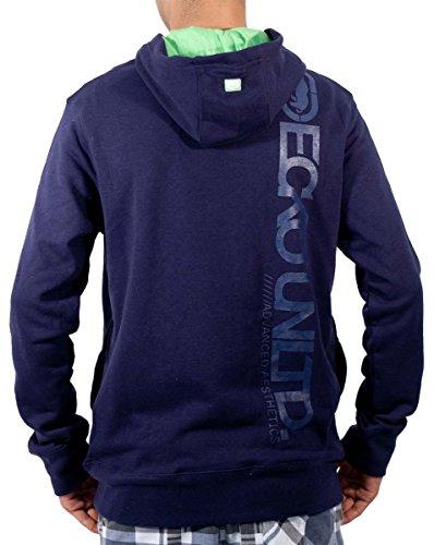 Ecko Sudadera con capucha de algodón para hombre, color azul marino