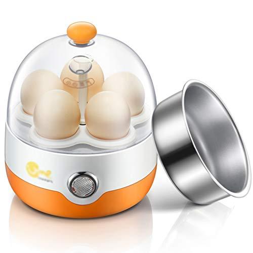 Elektrische eierkoker, multifunctionele mini-boiler, ontbijtmaker, eetverwarming, steamer voor 1 personen, automatische uitschakeling