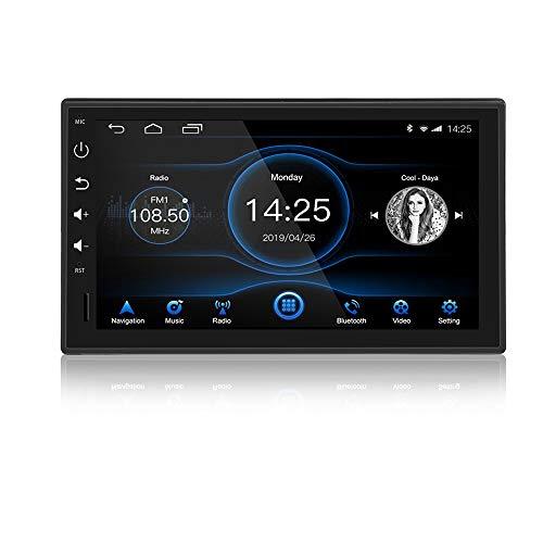 Ezonetronics Android 8.1 singolo DIN autoradio stereo 7 pollici touch screen capacitivo ad alta definizione 1024x600 navigazione GPS Bluetooth USB SD AM/FM/RDS Player Octa Core con 2G RAM + 32G ROM