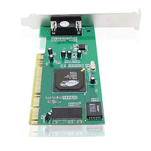 XiaoMall AS99 - Tarjeta gráfica para ordenador de sobremesa (ATI Rage XL, 8 MB, VGA, tarjeta de vídeo y accesorios para PC)
