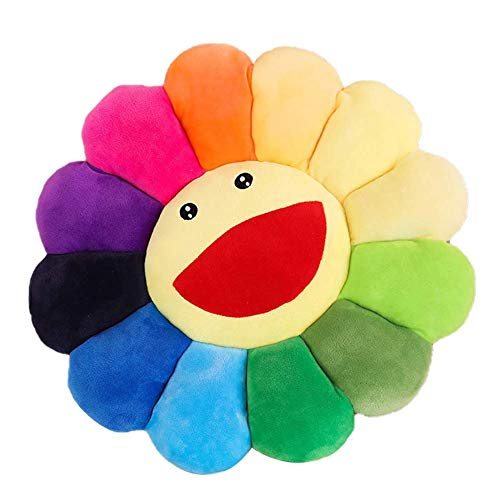 Juguete de peluche de girasol colorido, juguete de girasol, juguete de peluche para gato, cojín para mascota, hogar, dormitorio, coche, tienda, restaurante, decoración de regalo ⭐