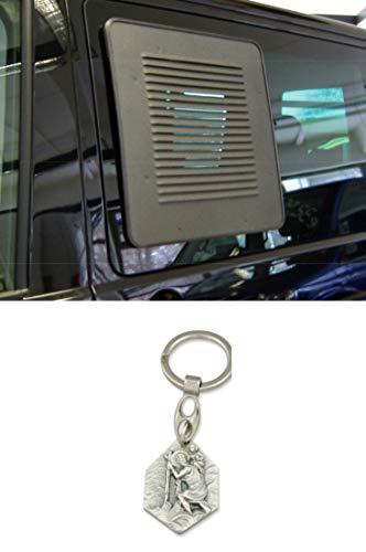 Zisa-Kombi T5/6 Lüftungsgitter für Schiebefenster AIRvent rechts (932988461632) mit Anhänger Hlg. Christophorus